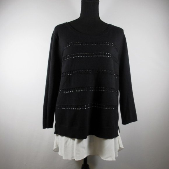 Anthropologie Angel of the North Layered Sweater